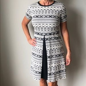 Maggie London novelty fit and flair dress